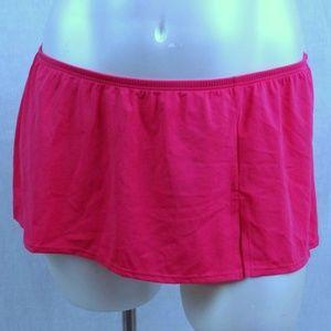 Front Slit 28 Swim Skirt Bottom with Brief